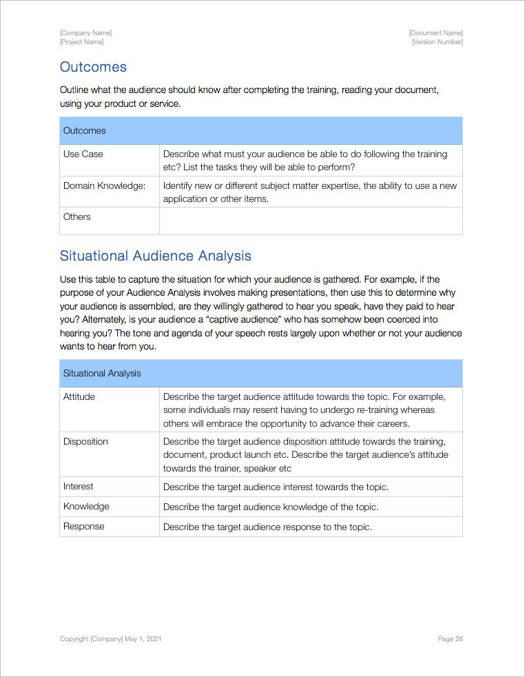 Audience_Analysis_Template_iWork_Pages_Outcomes