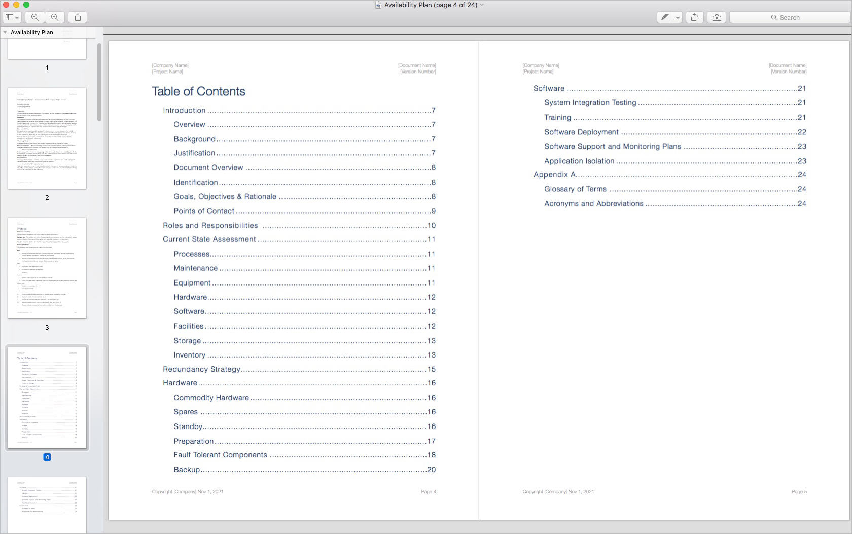 Availability_Plan_Template_Apple_iWork_Pages_TOC2