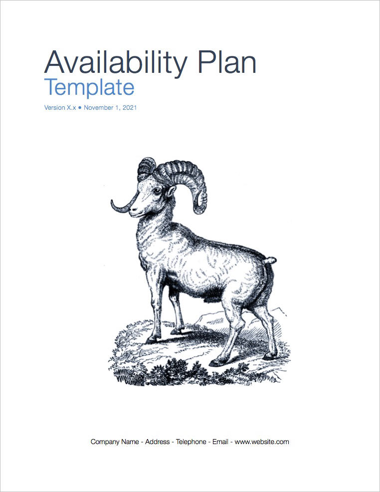 Availability_Plan_coversheet