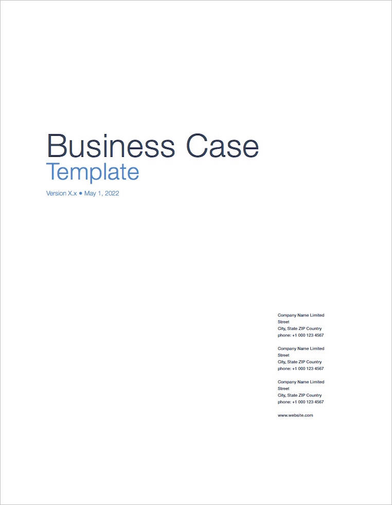 Business_Case_Template_Apple_iWork_Pages