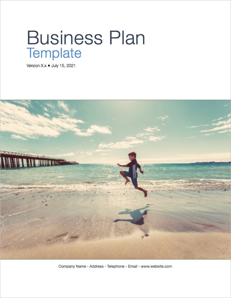 Apple Business Plan Template coverpage