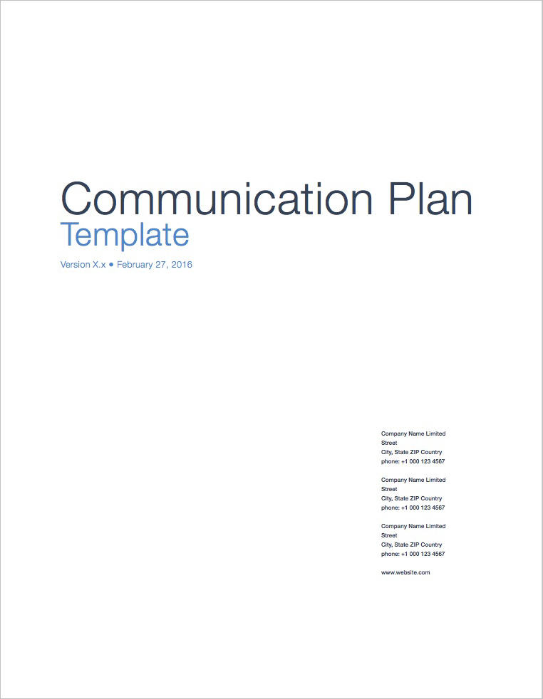 Communication_Plan_Template_Apple_iWork_Pages_Coversheet