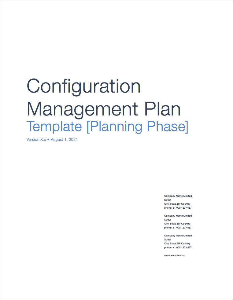 Configuration_Management_Plan_Template_Apple_iWork_Pages_Coversheet