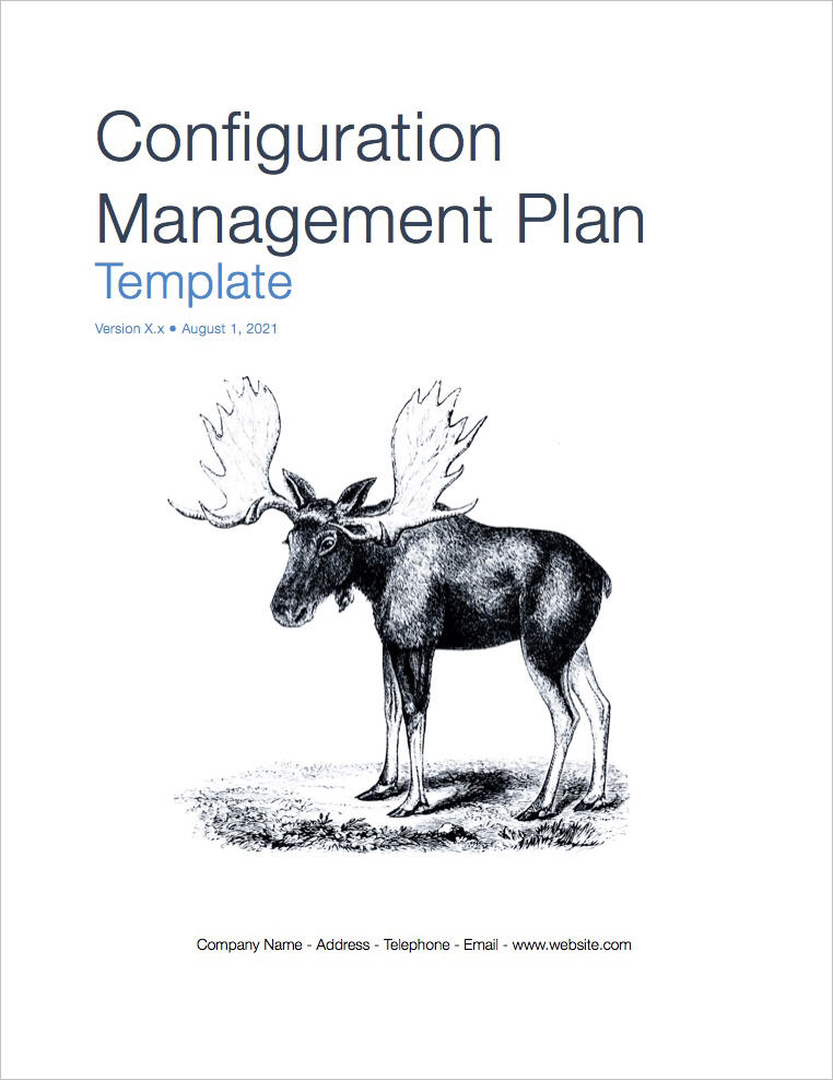 Configuration Management Plan Template Apple Iwork Pages