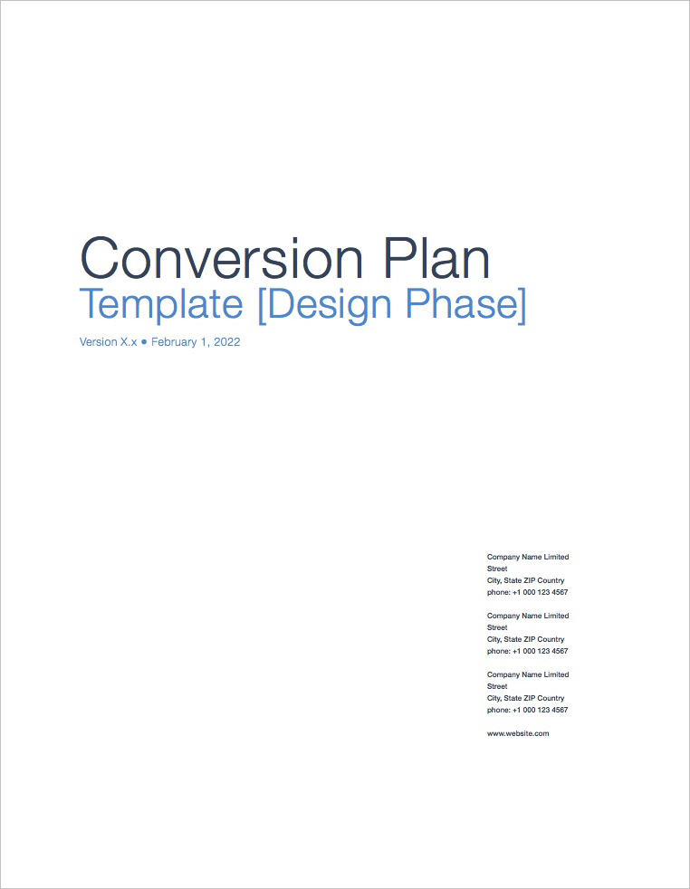 Conversion_Plan_Template_Apple_iWork_Pages_Coversheet