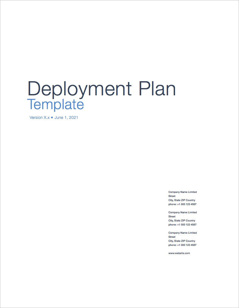 Deployment_Plan_Template_Apple_iWork_Pages_Coversheet