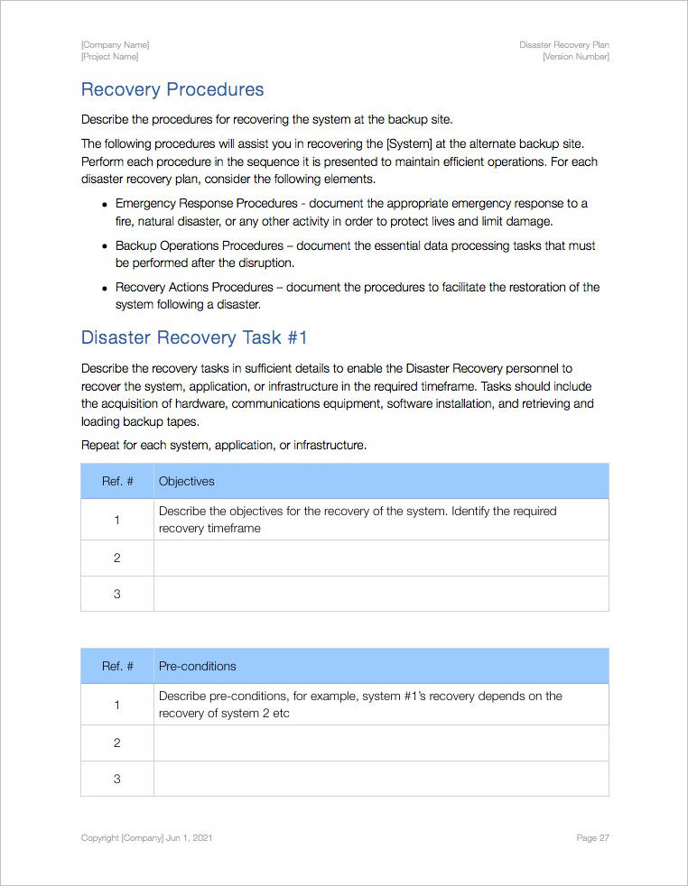 Disaster_Recovery_Plan_Template-Apple-iWork-procedure
