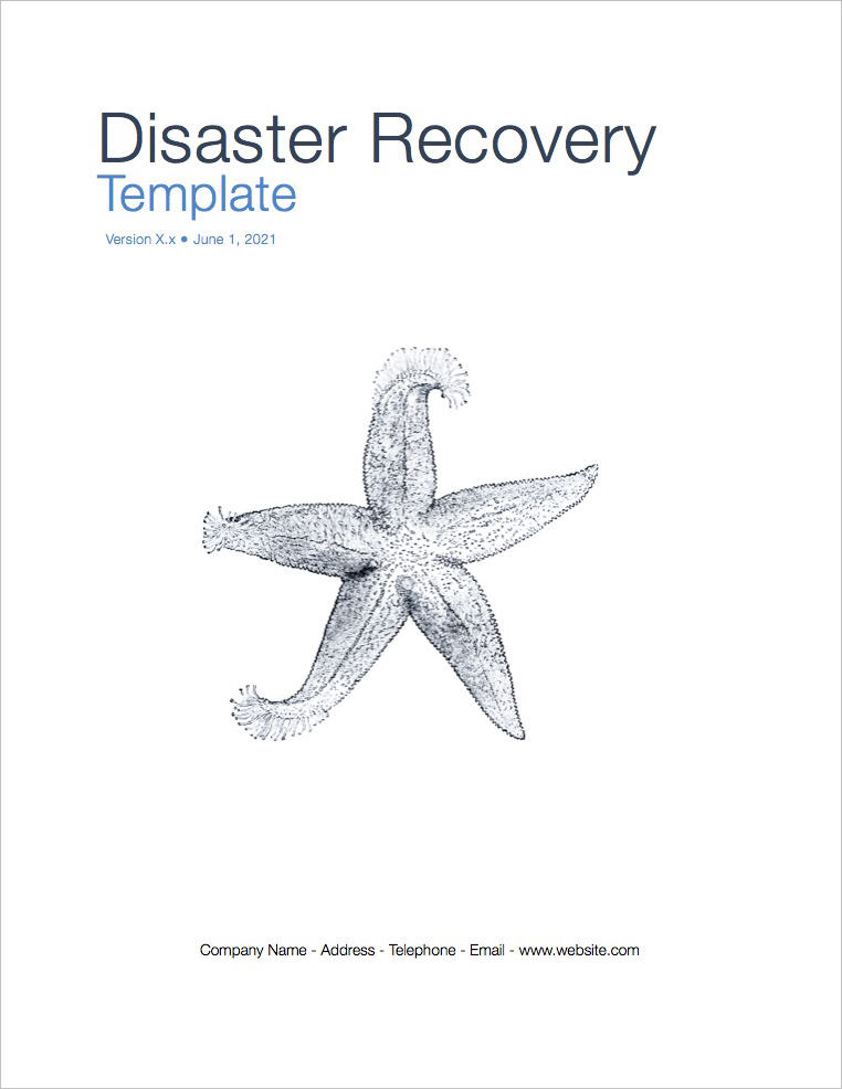 Disaster Recovery Plan Template (Apple Iwork Pages)