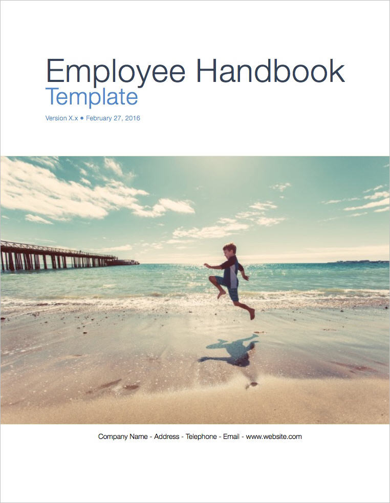 Employee Handbook Template Apple Iwork PagesNumbers