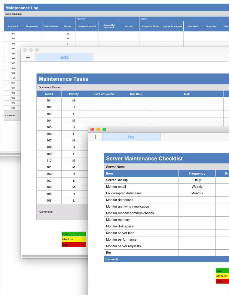 Maintenance_Plan_Server_Maintenance_Checklist_and_Maintenance_Tasks_Tracking_Form_and_Maintenance_Log