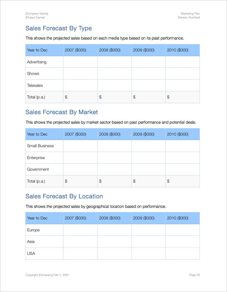 Marketing_Plan_Template_Apple_iWork_Pages_Numbers_Sales_Forecast_by_Market