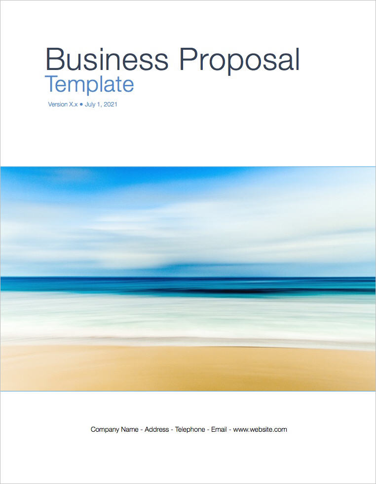 Business Proposal Template Apple Iwork Pages