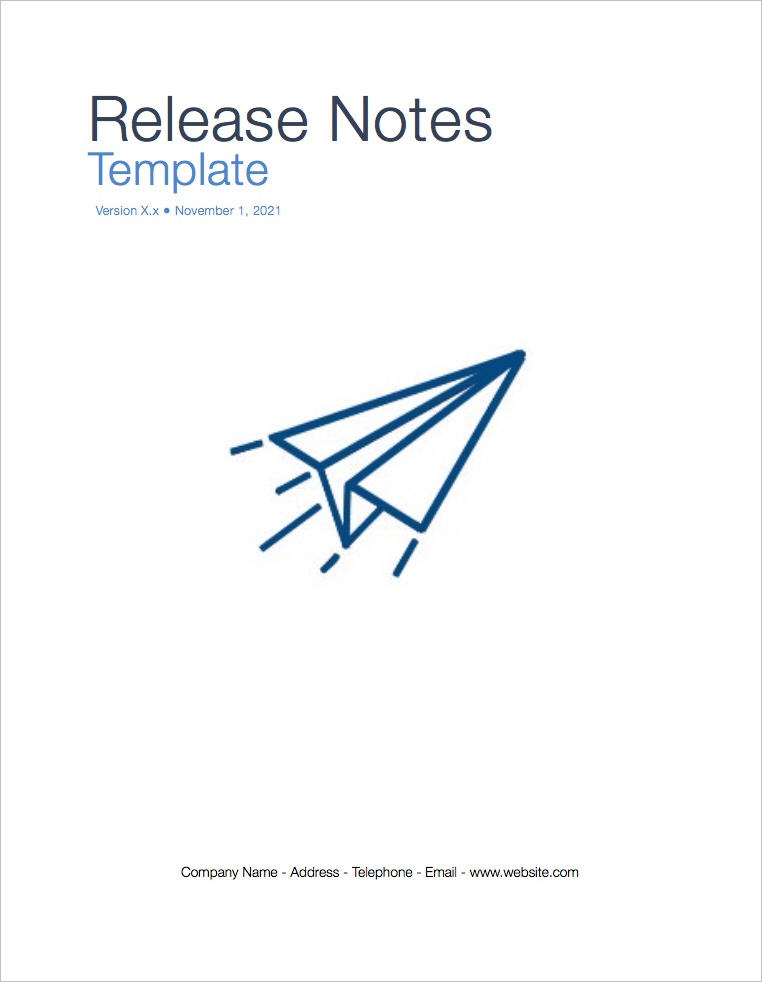Release Notes Template Apple Iwork PagesNumbers