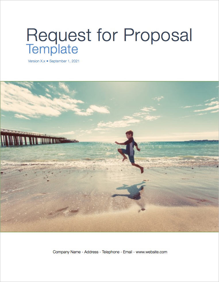 Request For Proposal Rfp Template (Apple Iwork Pages And Numbers)