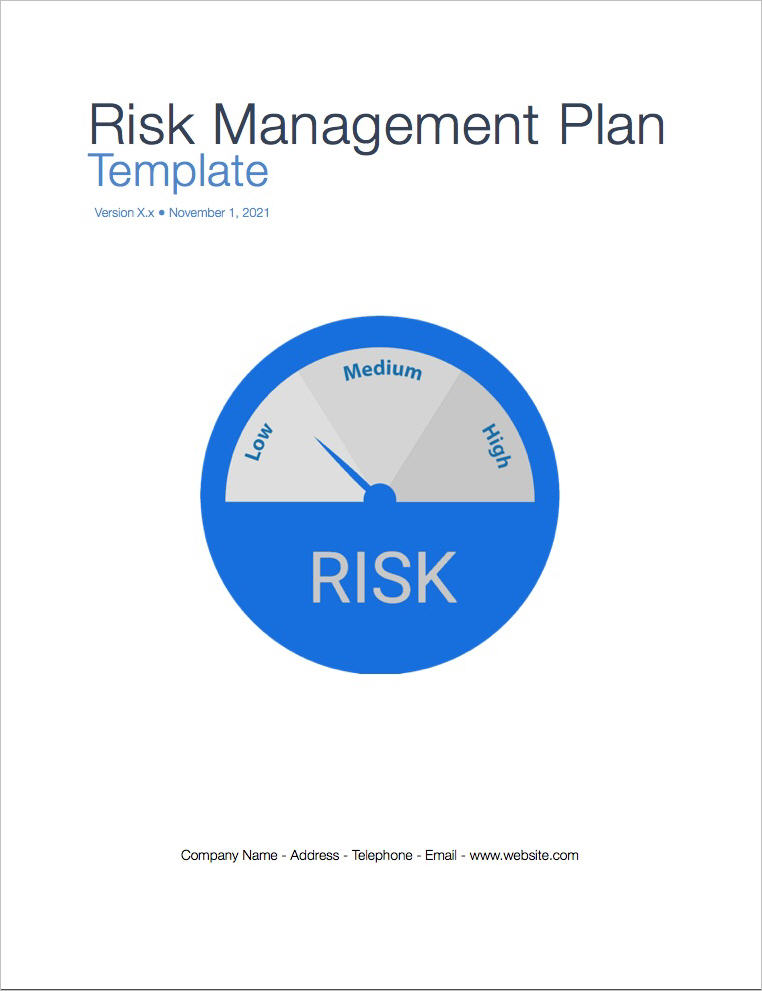 Risk Management Plan Template Apple Iwork PagesNumbers Spreadsheets
