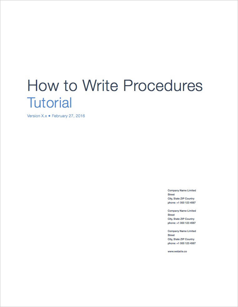 Standard Operating Procedure Templates Apple Iwork PagesNumbers