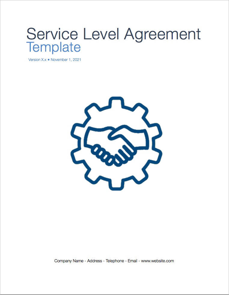 Service Level Agreement Sla Apple Iwork PagesNumbers