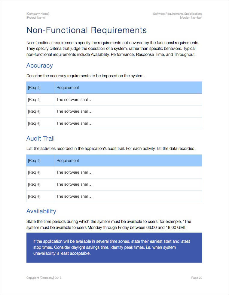 Software Requirements Specification Template (Apple iWork ...