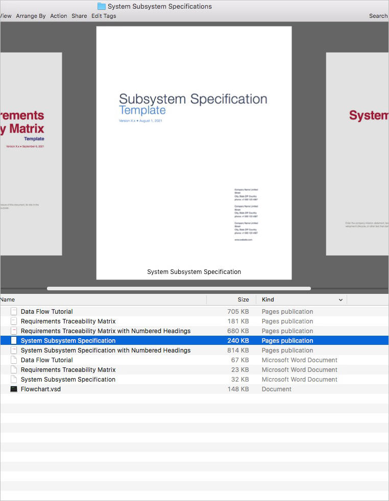 System-Subsystem-Specifications-Template-Apple-iWork-Products