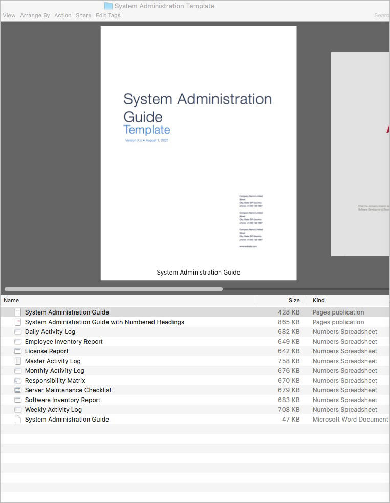 System_Administration_Template-Apple-iWork-Pages-Product-List
