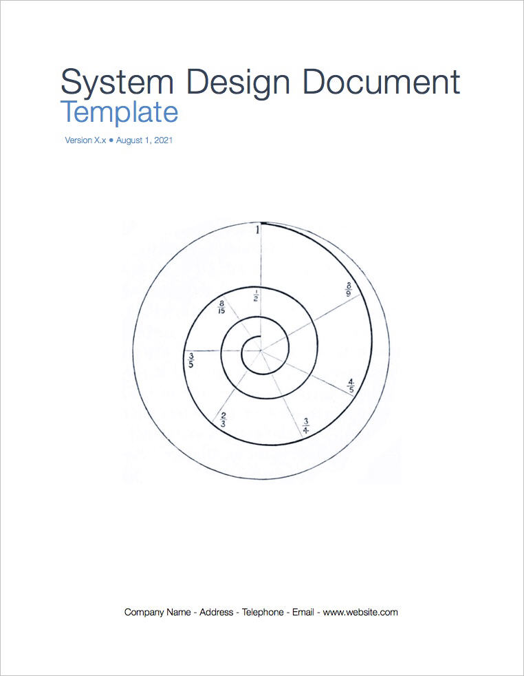 System_Design_Document_Template-covepage