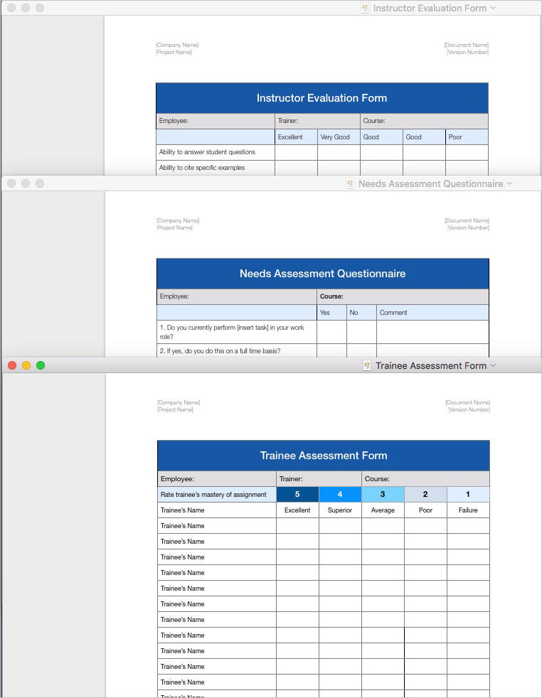 Training Plan Template Apple Iwork Pages And Numbers